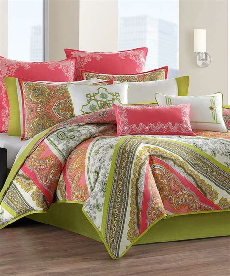 echo gramercy paisley comforter pink gramercy paisley comforter set fresh colors home