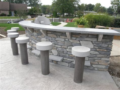 outdoor concrete bar top outdoor concrete bar top and stools made to weather