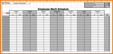 pin pin monthly employee schedule template excel on