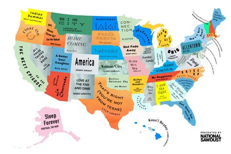 map of the united state the musical map of the united states hello creatives