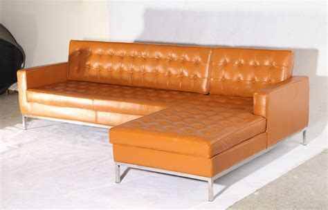 knoll corner sofa knoll corner sofa in light brown genuine leather