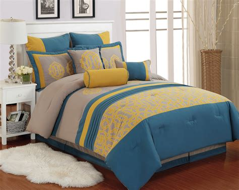 yellow queen comforter sets adorable dark yellow blue and pale full queen comforter