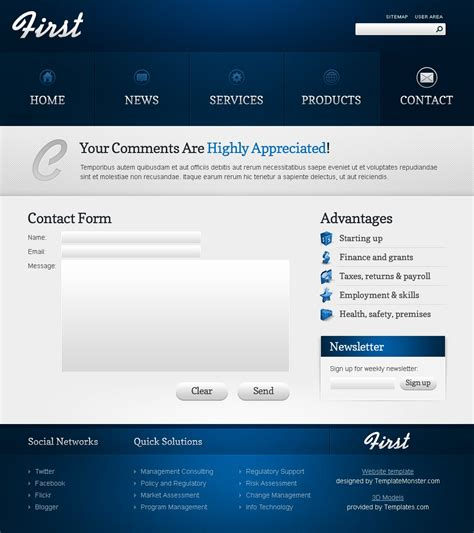 Free Theme For Business Site Business Site Template