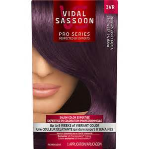 walmart hair colors vidal sassoon pro series hair color 3vr velvet
