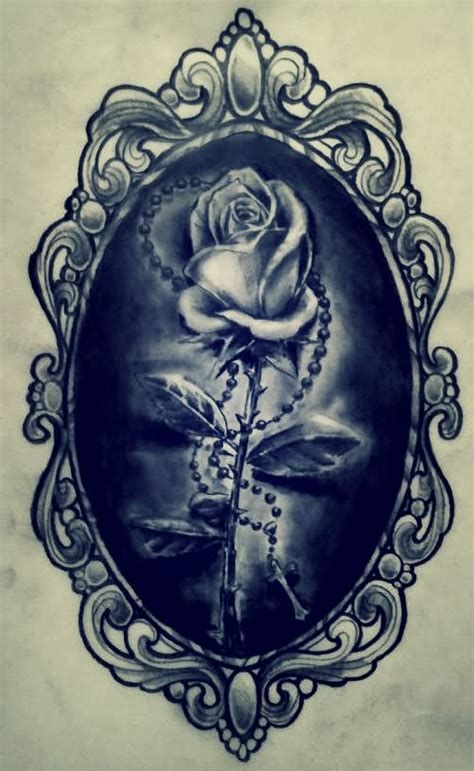 frame design tattoo attractive black ink frame tattoo design by aimstar