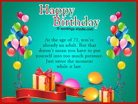 21st Birthday Card Messages 21st Birthday Wishes Messages And 21st Birthday Card