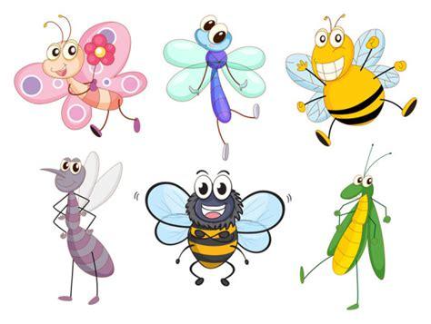 imagenes animados de insectos divertidos vectores de insectos en dibujo animado
