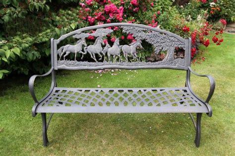 bench horse solid cast iron horse bench garden furniture metal bench
