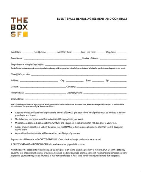 event rental agreement template room rental agreement template 11 free word pdf free