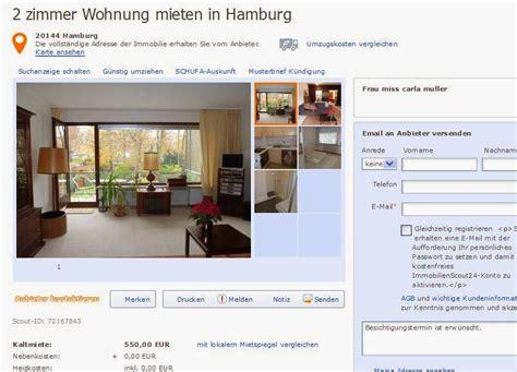 2 zimmer wohnung mieten in hamburg wohnungsbetrug claramuller43 gmail alias