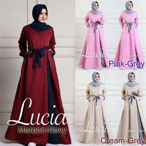 Dress Busana Muslim Wanita baju muslim terbaru lucia dress grosir baju muslim