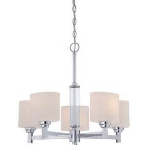 candle chandelier lowes shop otep 22 in 5 light polished chrome etched glass