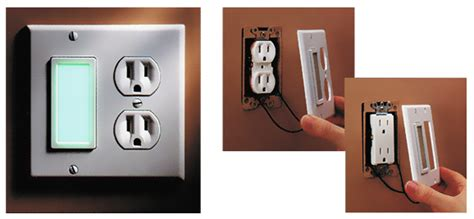 built in night light outlet wall lights design led night light wall plate light