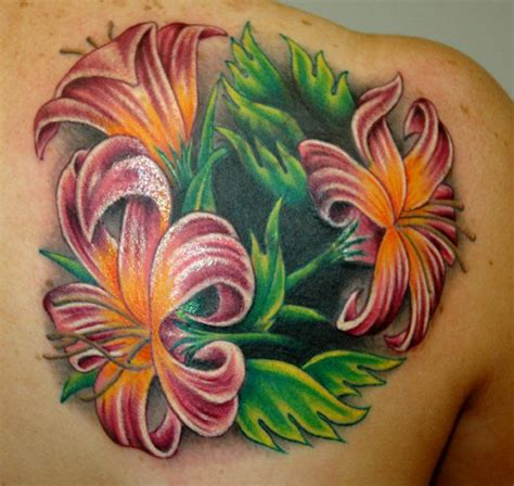 exotic flower tattoos three lilies