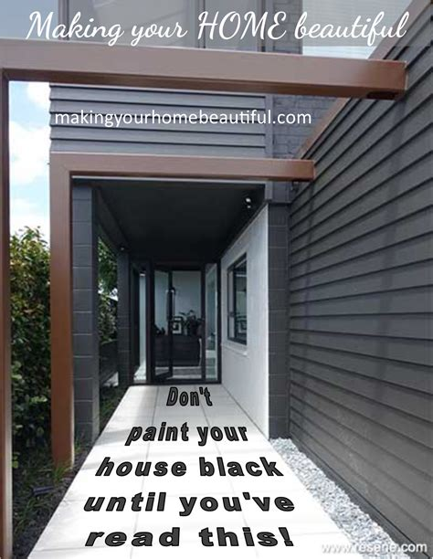 black painted house don t paint your house black until you have read this making your home beautiful