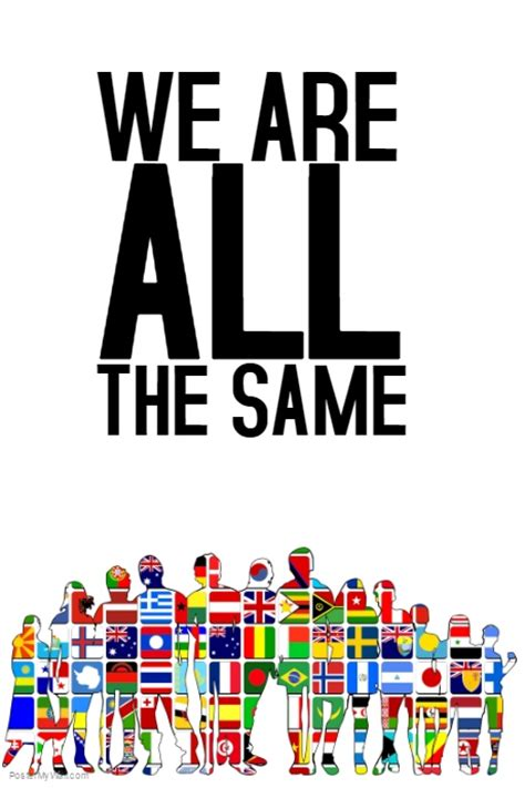 we are all the same poster quote template postermywall