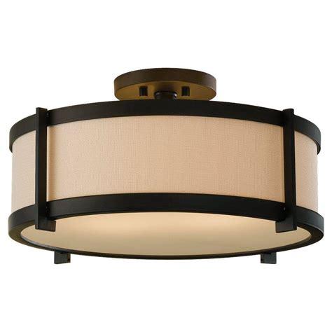 semi flush mount light fixtures feiss malibu 3 light polished nickel semi flush mount