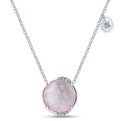 gabriel co jewelry silver rock pink
