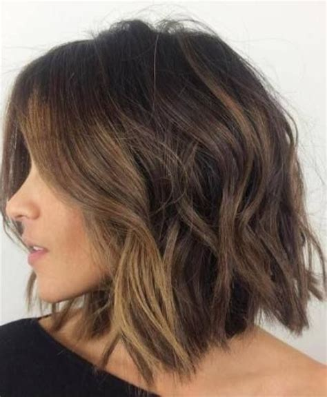 brunette bob hairstyles pinterest shaggy brunette bob with face framing balayage bob