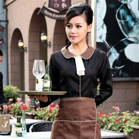 pan collar shirt professional waiter uniformsell