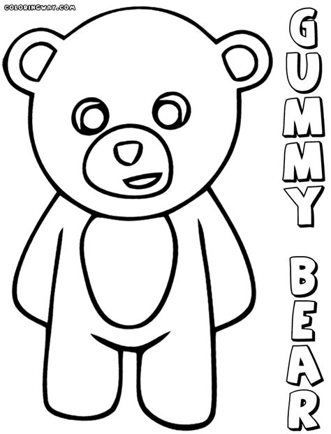 coloring pages gummy bear gummy bear coloring pages coloring pages to download and