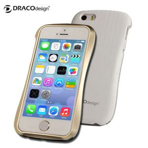 Iphone 5 5s Gold White Casing Bumper Cover Bagus draco a aluminium bumper for iphone 5s 5 gold white