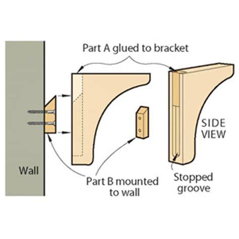 shelf bracket plans  woodworking