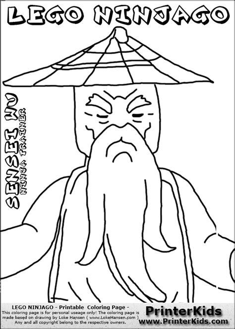 lego ninjago sensei wu coloring pages ninjago sensei coloring pages
