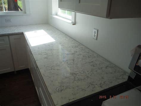 Install Quartz Countertop by Rococo Lg Viatera Quartz Kitchen Countertop Install For