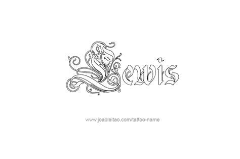 lewis name tattoo design lewis name designs