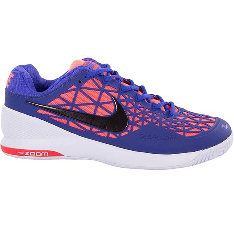 nike zoom cage 2 junior tennis shoe violet hotlava black