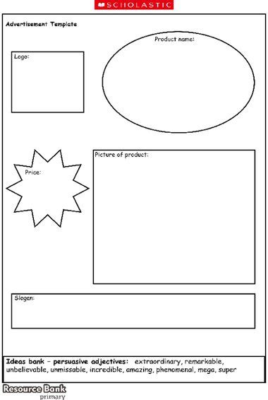 advertisements template advertisement template primary ks1 ks2 teaching