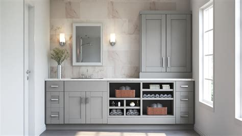 shaker base cabinets dove gray kitchen home depot