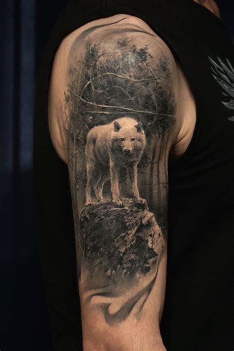 wolf forest tattoo robert litcan certified artist