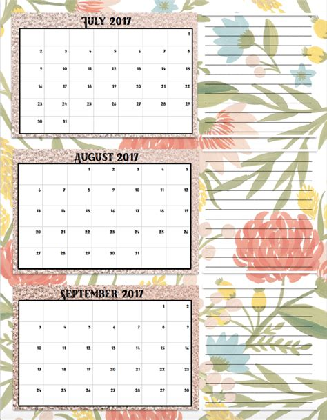 printable calendar quarterly 2017 free printable 2017 quarterly calendars 2 different designs