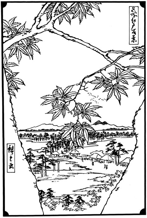 japanese garden coloring page japanese garden pages coloring pages