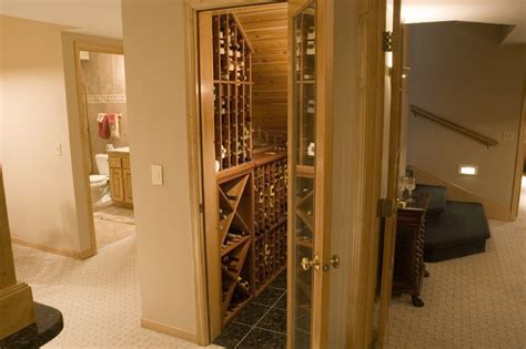 Under Cabinet Lighting Ideas Kitchen - great wine closet using under staircase space traditional wine cellar minneapolis by