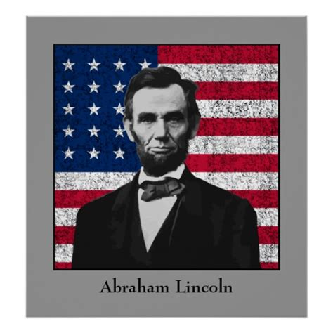 printable poster of u s presidents abraham lincoln and the american flag print zazzle