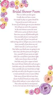 creative bridal shower gift poems 25 best ideas about bridal shower poems on