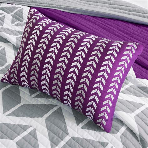 purple coverlets nadia purple quilted coverlet set by intelligent design