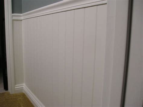 Putting Up Wainscoting by Wainscoting Aka Beadboard In Bathroom Installation