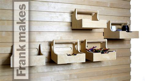 office  french cleat storage wall youtube