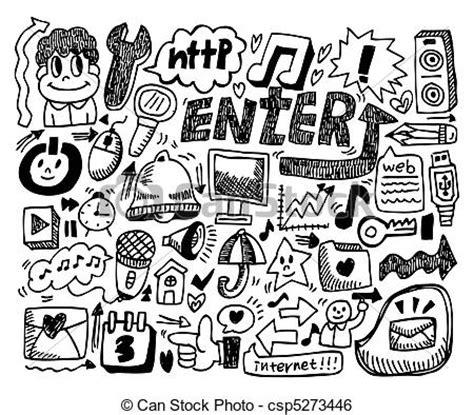 doodle draw free clip vector of web doodle web doodle csp5273446