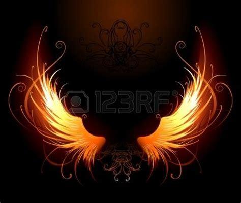 alas de fuego 8445002880 alas de fuego art 237 sticamente pintados sobre un fondo negro foto de archivo ave f 201 nix