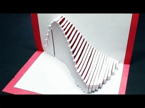 kirigami spinning card template how to make a wave pop up card kirigami 3d wave