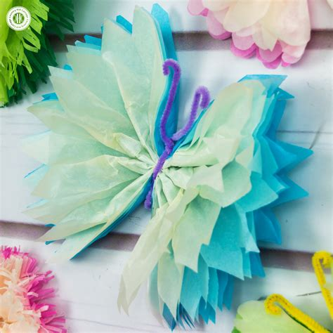 Tissue Paper Butterfly Craft - tissue paper butterflies paper craft diy country