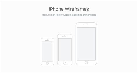 50 Free Wireframe Templates For Mobile Web And Ux Design Iphone Web Design Template