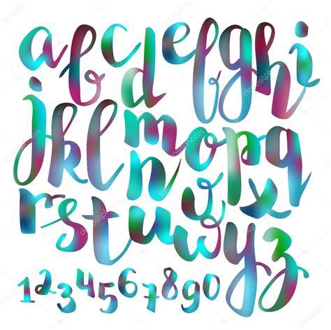 handwritten brush pen colorful font stock vector 169 lenaro 85343474