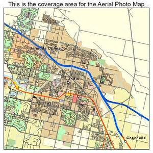 aerial photography map of indio ca california