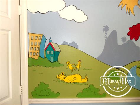 dr seuss wall murals murals dr seuss cat in the hat and lorax nursery wall murals miami fort lauderdale west palm